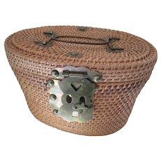 Vintage Rattan Woven Box Purse