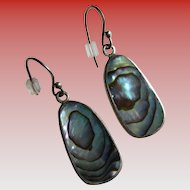 925 Silver: Abalone Wire Earrings