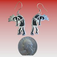 Vintage Alpaca-Kokopelli Wire Earrings
