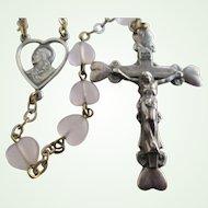 Vintage Catholic Rosary- Italian Sterling Silver-Malco