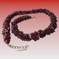 Torsade Natural Garnet Chips Necklace