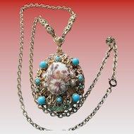 W. Germany Sugar Finish Flower Necklace