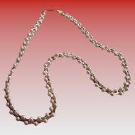 Vintage Pink Faux Pearl/Goldtone Necklace