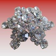 GLITZY Juliana Art Glass Star Brooch