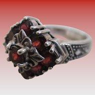 925/Silver -Tourmaline Stone Ring