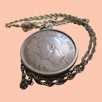1938 Coin Silver Canadian Dollar Piece
