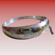 Vintage 925/Silver 2/Toned Clasp  Bracelet