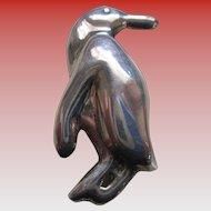 925 Silver Penguin Brooch