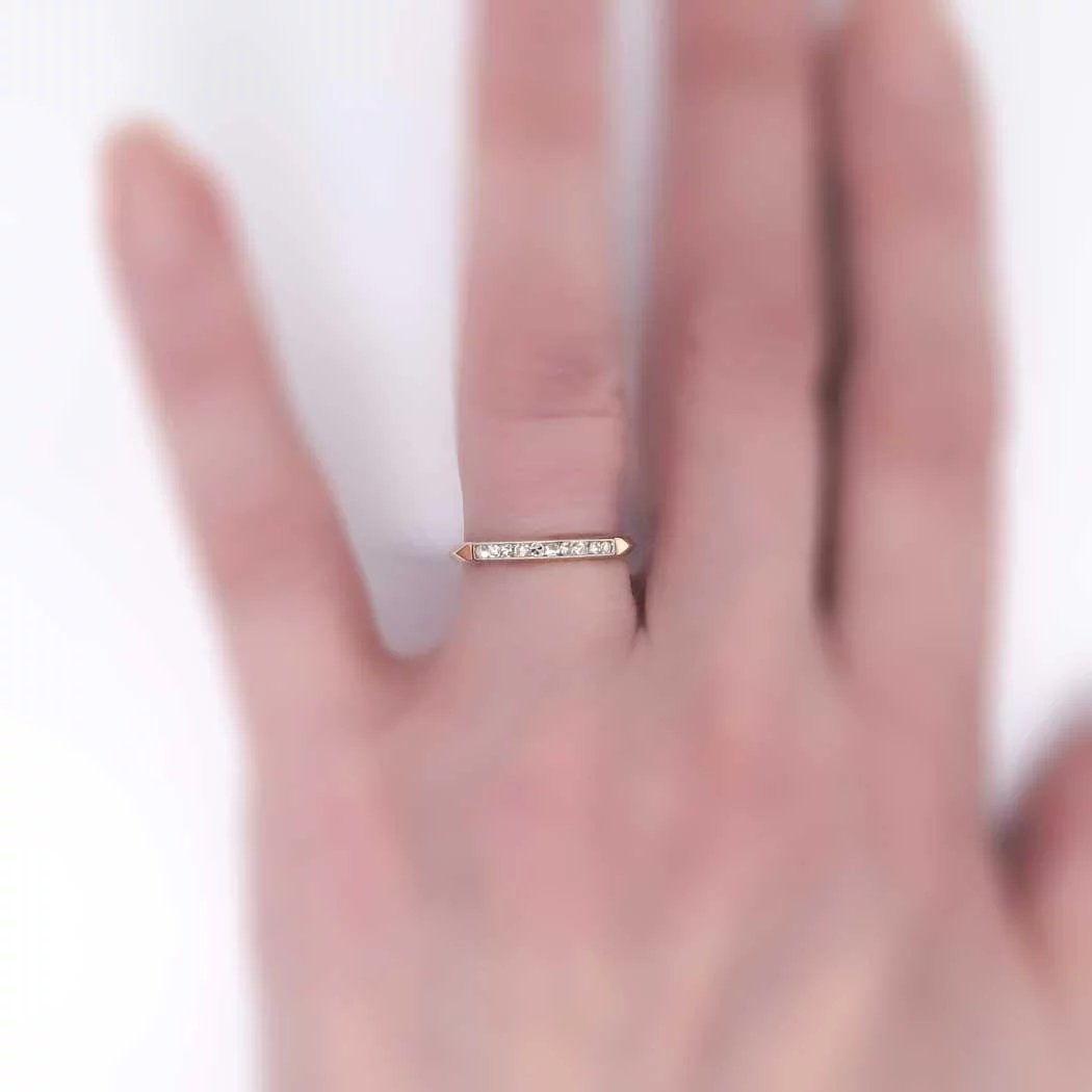 Delicate 1930\'s .20ct t.w. Two Tone Diamond Wedding Band 14k SOLD ...