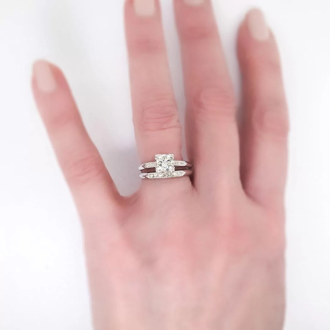 Vintage Art Deco 1930\'s 1.03ct t.w. Old European Cut Diamond ...