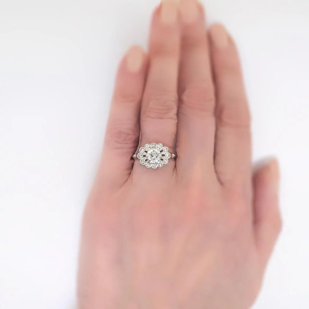 Art Deco 1930\'s Orange Blossom .89ct t.w. Old Transitional Cut ...