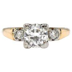 Vintage Art Deco 1930's .72ctw. Old Cut Diamond Engagement Wedding Anniversary Ring 18k