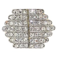 Sparkling Art Deco Diamond Ring Circa 1930's Vintage 1.20ct t.w. 14k Platinum Ring