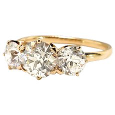 Antique Tiffany & Co. Diamond Ring Circa 1900's 1.66ct t.w. Old European Cut Diamond Anniversary Engagement Ring 18k
