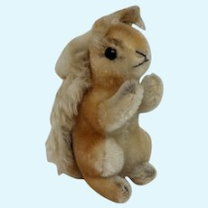 Adorable Vintage Mohair Steiff Squirrel with ID