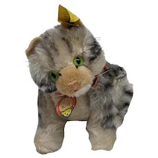 Fabulous Earliest Vintage Mohair Steiff Fully Jointed Kitty Cat All ID 1951-1958