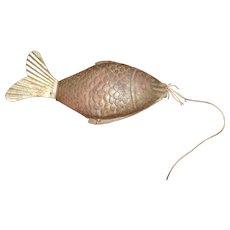 Rare tin fish noisemaker tail moves