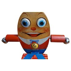 Early Fisher Price Wooden Humpty Dumpty Toy #757