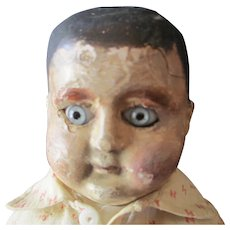 "Papier Mache Boy very early 1890's 17"" - Red Tag Sale Item"
