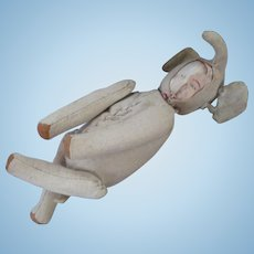 """5"""" Tall Cloth jointed elephant doll face"""