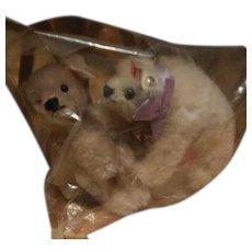 Steiff Miniature Mohair Teddy Bear and Polar Bear Still Sealed