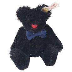 """Nice Little Steiff Black Mohair 3-1/2"""" Teddy Bear"""
