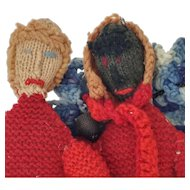 Fabulous Pair of Vintage Crochet Knit Doll