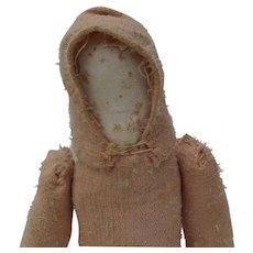 Old Worn Faceless Teddy Bear Doll