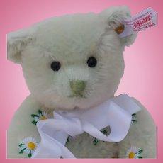 Lovely Steiff Daisy the Flower Bear Pale Mint Green Mohair Fur