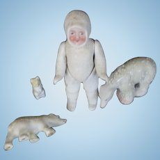 Snowbaby all bisque and jointed 4 pcs