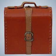 Old Leather Miniature Doll Suitcase