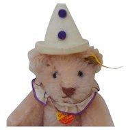 Adorable Steiff Pink Mohair Clown Teddy Bear