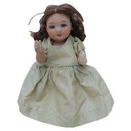 Darling All Bisque ABG Dollhouse Doll Alt Beck Gottschalck with Glass Eyes