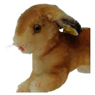 Wonderful Vintage Steiff Mohair Running Bunny Rabbit w/ID  Nice Larger Size