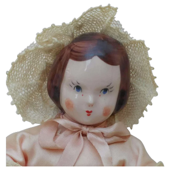 Sweet Vintage Ruth Gibbs China Doll w/ Tagged April Play Friends Dress 504 P