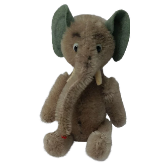 Lovely Little Vintage Schuco Yes / No Elephant