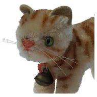 Tiny Little Vintage Steiff Mohair Tapsy Cat Kitten w/ID