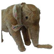 Fabulous Early Straw Stuffed Mohair Elephant