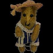 Funny Little Worn Out Vintage Mohair Teddy Bear