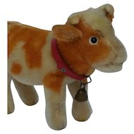 Vintage Mohair Steiff Cow Little Guy
