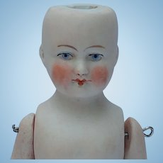 Antique German All Bisque Dollhouse Doll