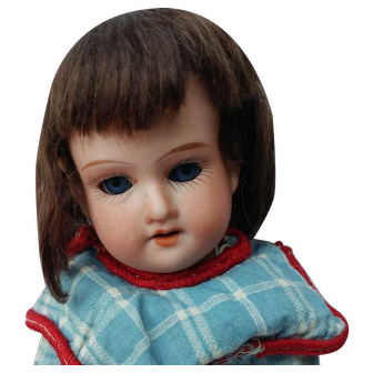 "Sweet Little 8"" AM 390 German Bisque Head Doll"