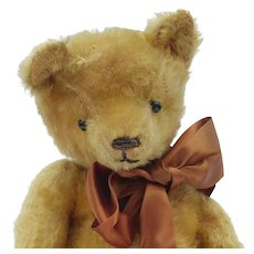 Charming Early Well Loved English Mohair Teddy Bear