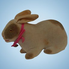 Lovely Early Velveteen Bunny Rabbit Rattle