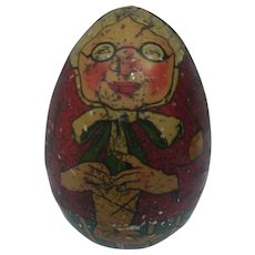 Wonderful Early Tin Litho Easter Egg  with Great Graphics