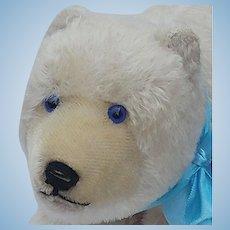 Wonderful Vintage Steiff Polar Bear with Blue Eyes