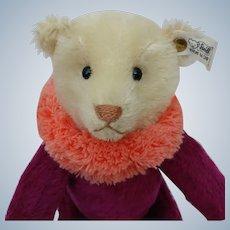 Lovely Vintage LE Steiff Circus Dolly Bear in Purple EAN# 0164/34