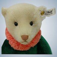 Lovely Vintage LE Steiff Circus Dolly Bear in Green EAN# 0164/32