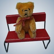 Lovely Little Vintage Peach Apricot Mohair Schuco Teddy Bear