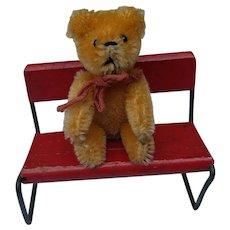 Lovely Little Vintage Peach Apricot Mohair Schuco Teddy Bear